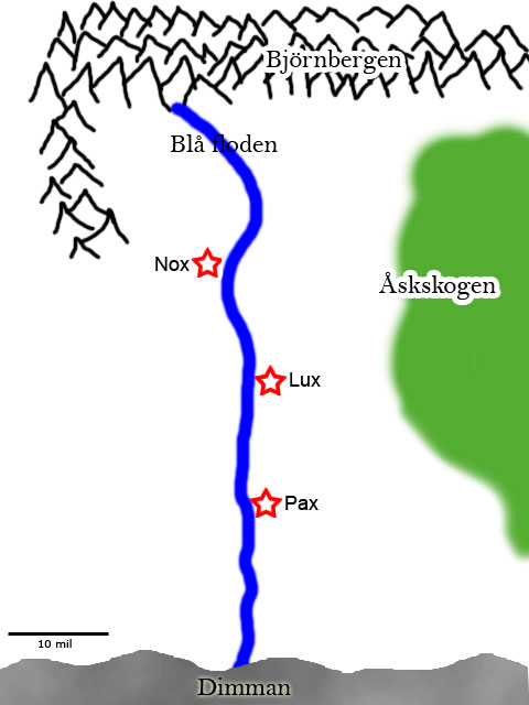 Karta över närområdet.