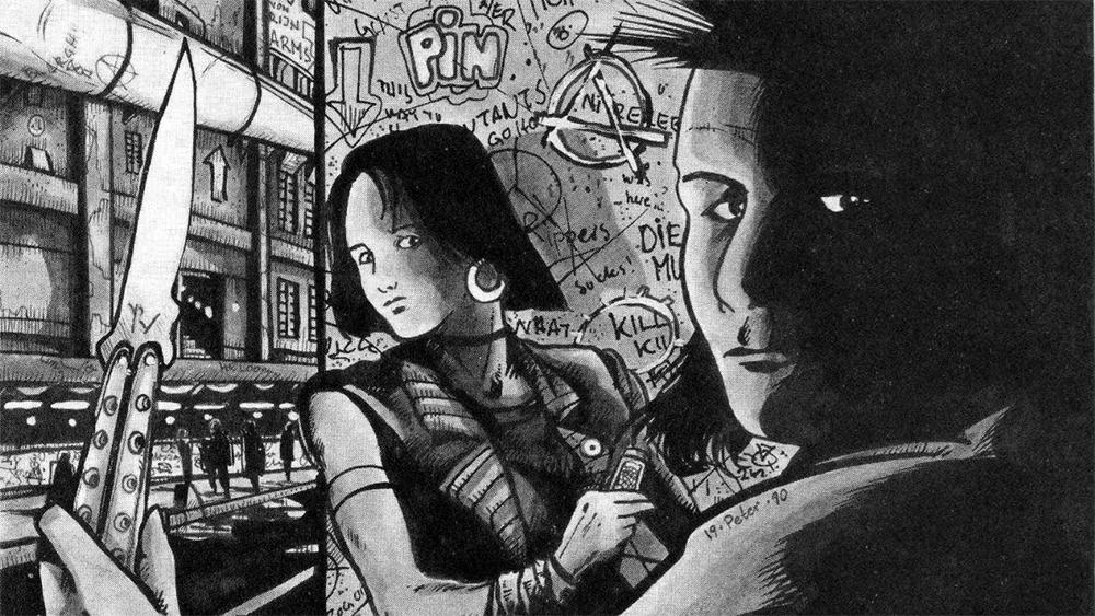 Illustration från Mutant-äventyret i tidningen.