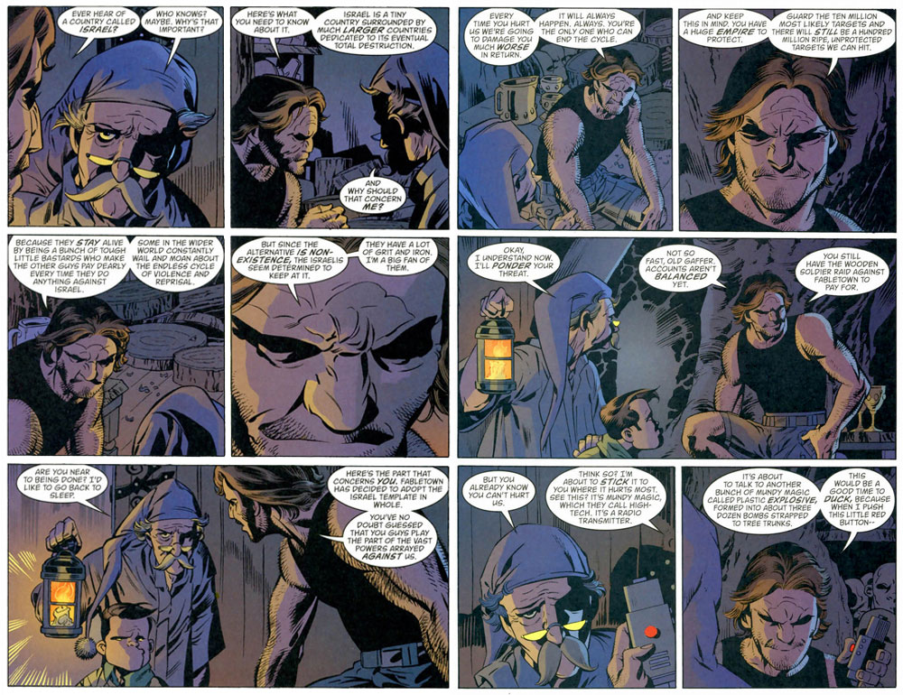 """""""Fables vol 8: Wolves"""", sid 76-77."""