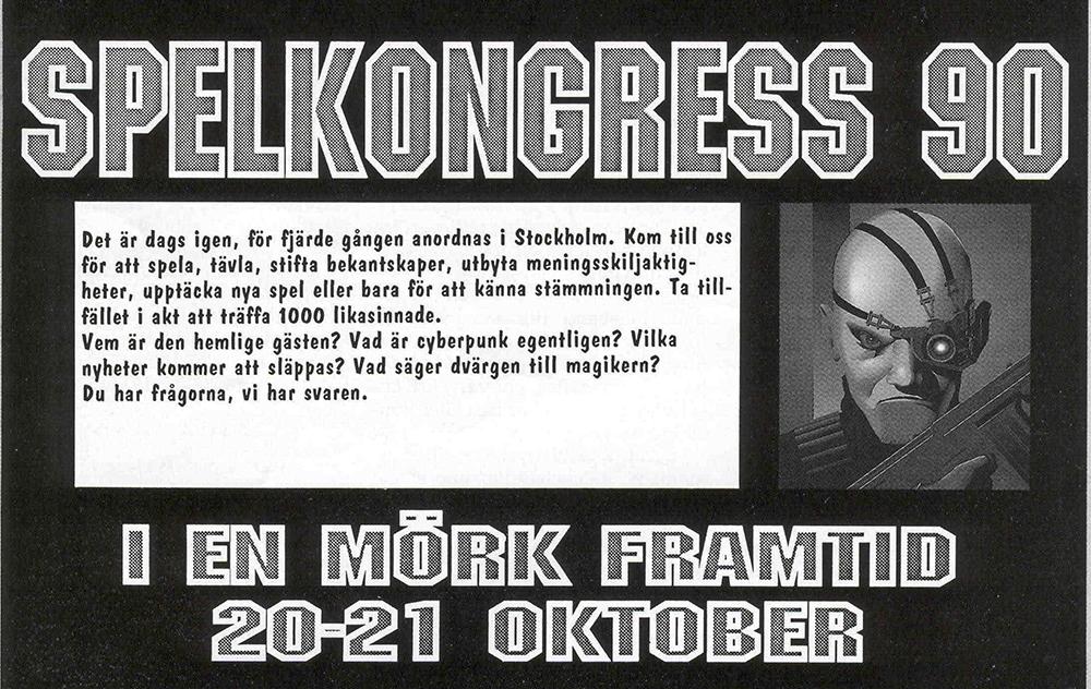 Reklam för Spelkongress 90.